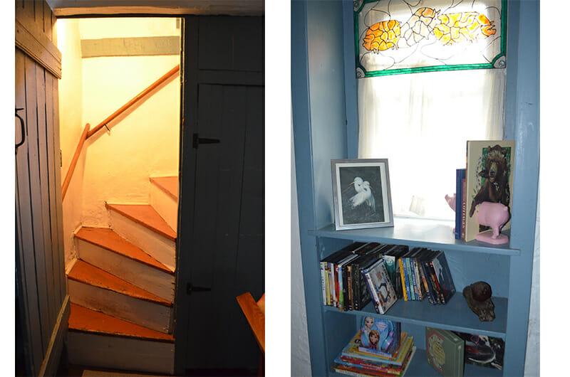 Cottage Steps and Bedoom